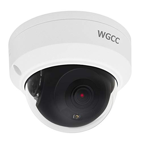 WGCC IP Poe Kamera Dome HD 4Mp 2.8MM H.265 Home Security Überwachungskamera Objektiv Onvif 120 Db WDR IP66 Wasserdicht 30M IR Nachtsicht-CCTV-Kamera für Outdoor und Indoor (Hintergrund-unterstützung-bar)