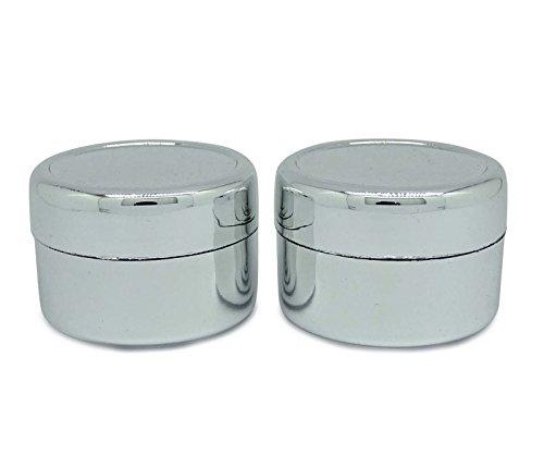 Pots En Plastique D'Argent Contenant Des Cosmétiques Remplissable
