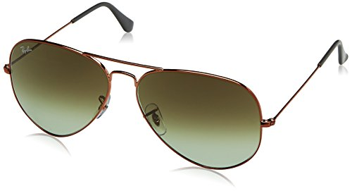 RAYBAN JUNIOR Herren Sonnenbrille Aviator II, Shiny Medium Bronze/Green Gradient Brown, 62