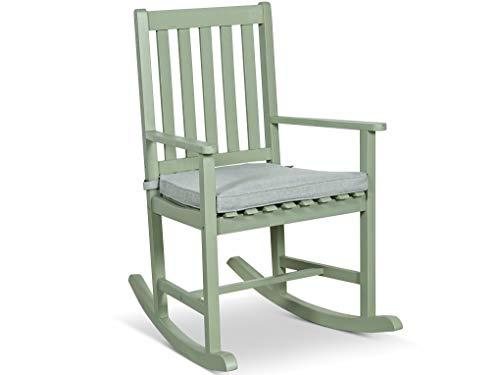 LANTERFANT - Schaukelstuhl Noor, Gartensessel, für drinnen und draußen, Akazien Holz, in DREI Farben Erhältlig, lackiert, Grün -