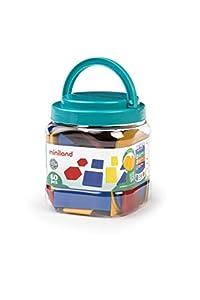 Miniland- Bloques Lógicos Juego de geometría, Multicolor (95044)