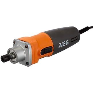 AEG 4935412985 Amoladora Recta 500 W-6 mm.diam.pinzae. Vel Variable, Negro, Naranja
