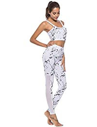 b21ed7a1d6 Globaltrade001 Women Tracksuit Sports Suit Yoga Set Bra Top + Leggings  Printing Gym Workout Fitness Set Ladies Sports Wear 2 Piece…