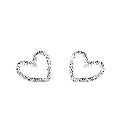 Bella & Flores - Orecchini a forma di cuore in argento sterling 925