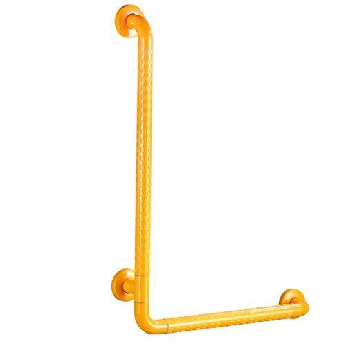Griffstangen Handlauf L-Typ WC-Schienen älteren Badezimmer Sicherheitshandlauf Barrierefreien Edelstahl rutschfesten WC-Sitz Haltegriffe ( Farbe : Weiß , größe : 60*40*47CM ) -