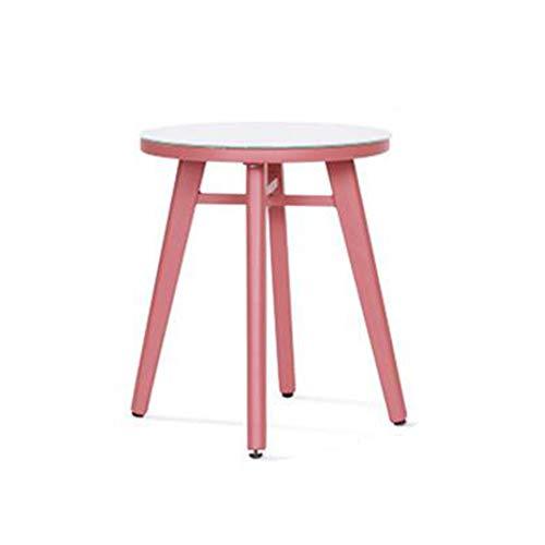 Jtwj tavolino rotondo in ferro art side small tavolino moderno minimalista mobile rotondo tavolino rotondo comodino (dimensioni : a)