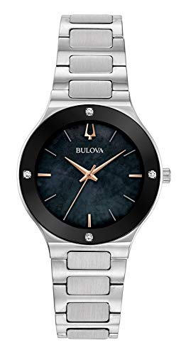 Bulova Damen Analog Quarz Uhr mit Edelstahl Armband 96R231