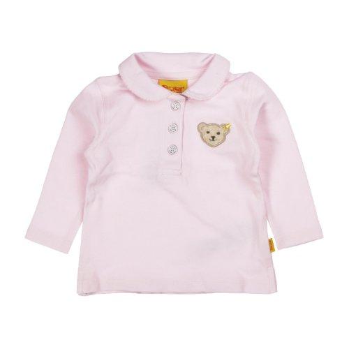 Steiff Unisex - Baby Poloshirt 0006893 1/1 Arm, Einfarbig, Gr. 68, Rosa (Barely Pink)