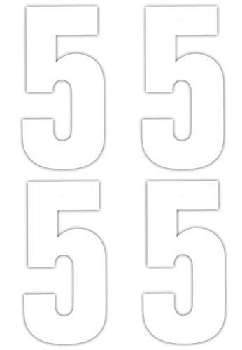 4 x 5 Nombre de Stickers pour poubelle à roulettes