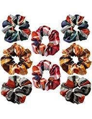 Haargummis, 8teilig ELASTIC Hair Bands für Mädchen Frauen, Haar Schleife Chiffon Pferdeschwanz Halter, bunt, Haargummi Haargummis weichem Haar Bands Krawatten Haarband -