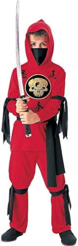 Tante Tina Costume da Ninja per Bambino - Ninja Costume con Cappuccio, Maniche Lunghe,...
