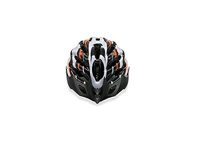 Sports Men Women Ventilation Bike Helmet Porous Adjustable Bicycle Helmet(Black+White+Orange) Cycle Helmets by blueqier