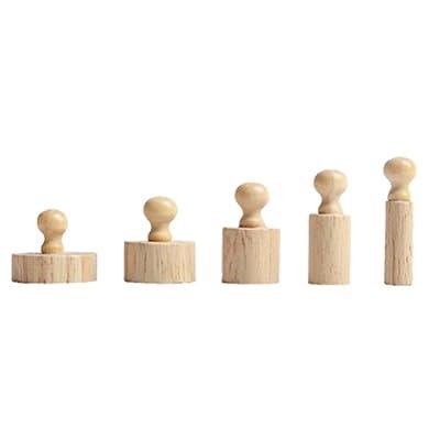 Tinksky Juguete del desarrollo temprano bebé Montessori cilindro toma sentidos regalo juguete educativo de madera por Tinksky