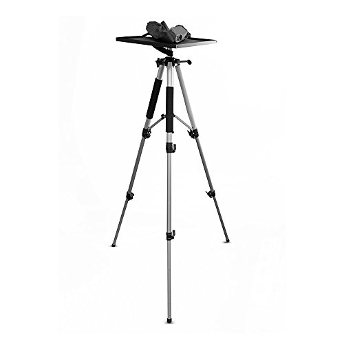 Video Projektor Halterung Ständer, Laptop-Ständer, Verstellbarer Höhe, 360Grad Rotation, drehbar/drehbar, Stativ Stil, mit Reisetasche