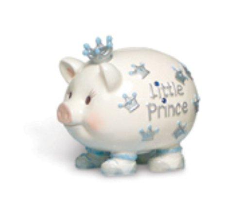 Mud Pie Mud Pie Baby Little Prince Crown Prince Piggy Bank