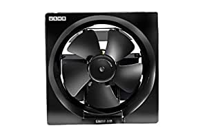 Usha Crisp Air 200mm Ventilating Fan (Black)