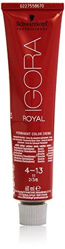 Schwarzkopf IGORA Royal Premium-Haarfarbe 4-13 mittelbraun cendré matt, 1er Pack (1 x 60 g) - 4 Matt