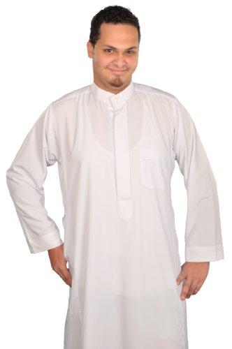 Egypt Bazar - Camisa Casual - para Hombre Blanco Blanco