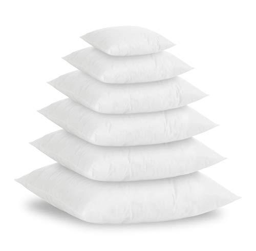 Textilhome - Set di 2 Cuscini in Piuma Sintetico Si, 60x60 cm - imbottiutra Interna 800g, per Cuscini Imbottiti, Cuscini in Piuma Sintetico, Cuscini per dicano.