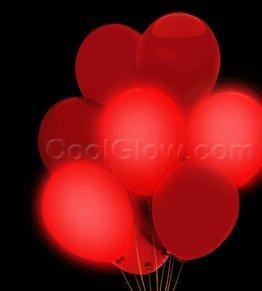 LED 14 Blinky Balloons - Red