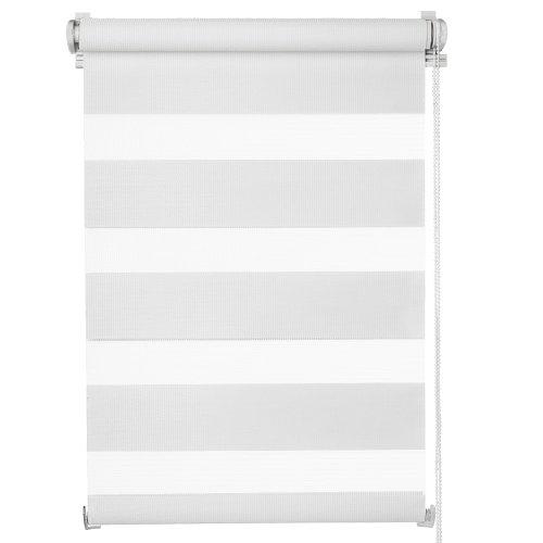 MIADOMODO Estor Doble Enrollable | 60x120 cm, Blanco, para Ventanas | Noche y Día