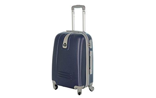 Maleta de equipaje de cabina 50cm y 55cm–Trolley ABS Ultra ligero–4ruedas para viajar con Easyjet o Ryanair. Art6802, Azul (Azul) – ormi_Blu