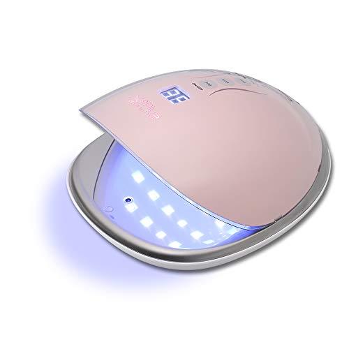 Gelnägel Nageltrockner, Anself 48W UV Lampe Tragbare UV Nagellampe LED für alle Gel, Infrarot Sensor, LCD Display, 30s/60s/90s, 365+405nm -
