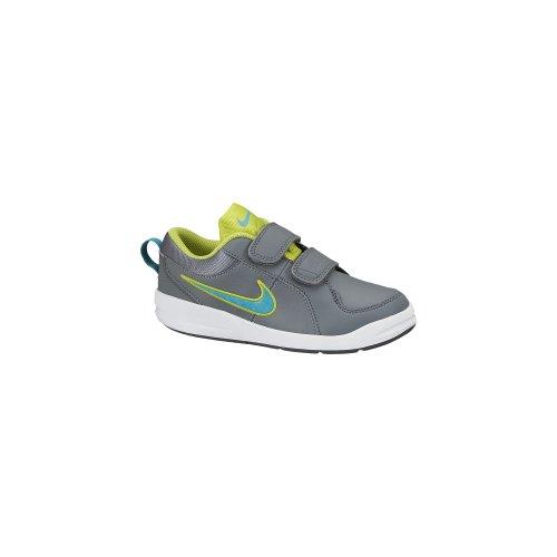 Nike Pico 4 Psv, Baskets mode mixte enfant Gris / Azul cielo / Verde limón
