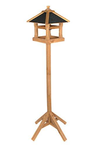 edles-vogelhaus-130400-mit-staender-massivholz-140-cm-hoch-und-mit-schindeldach-gedeckt-futterkrippe-futterspender-futterhaus-mit-futterschale-2