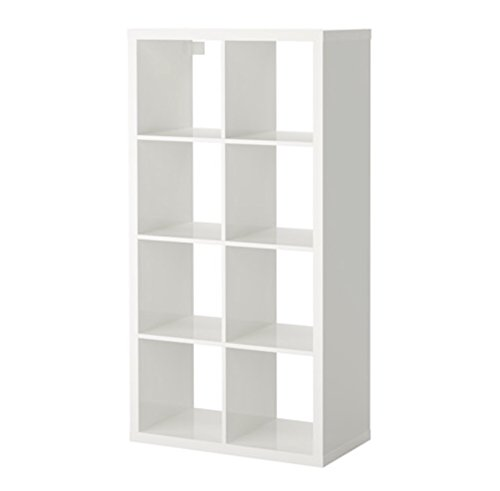 For Sale Ikea Kallax 8 Shelf Rectangle High Gloss White Discount