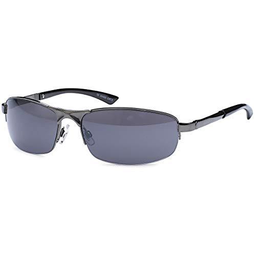 BEZLIT Herren Sonnenbrille Sport Rad Brille Biker Rund Oval 80er Nerd Brillen 479 Eloxiert