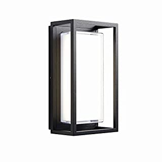 ARLOW Contemporary Design Robust Weatherproof Outdoor Garden Rectangle LED Wall Light Cool White 4000K IP44 Rated
