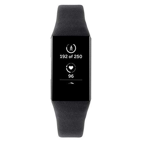 XIHAMA Cinturino Compatibile per Fitbit Charge 3, Cinturini di Ricambio in Pelle Braccialetto Sportivo da Polso Bracciale da Polso per Uomo Donna