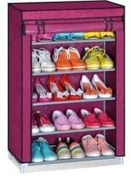 Sterling Shoe Racks for Home, Shoe Rack with Cover 5 Layer Multipurpose Shoes Stand for Shoe Storage Organizer Cabinet