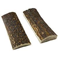 Bio Mordiscos 2 chapas/cachas de asta de Ciervo para Mango de Cuchillo/Navaja (7 x 2,4 x 1 cm)