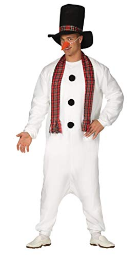 Kostüm Für Erwachsenen Pyjama Olaf - guirma Pyjamas Kostüm für Herren, Farbe: Weiß, Medium, 41660