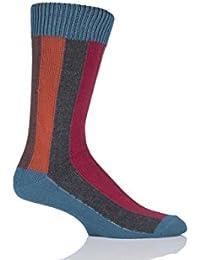 Herren 1 Paar HJ Hall-Regenbogen vertikal gestreiften Socken