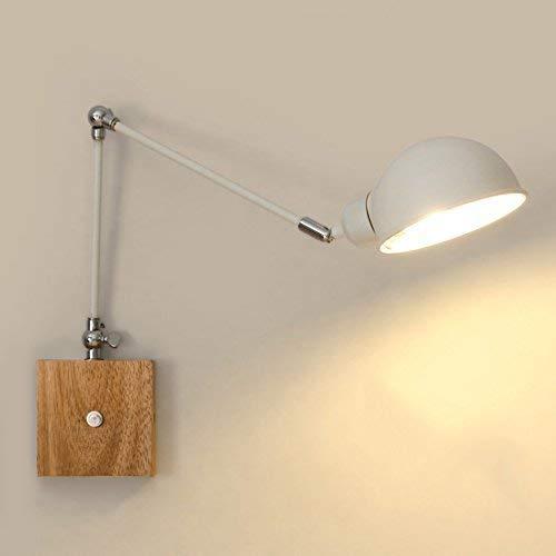 Willsego Lámparas de Pared Lámpara de Pared retráctil, Madera Dura Creativa Durante...