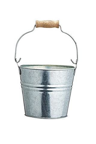 Master Class 11 x 9 cm Galvanised Steel Mini Artesa Serving Pail, Silver by Master Class