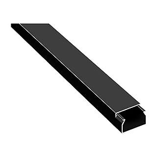 20m Kabelkanäle Selbstklebend Kabelkanal Schwarz mit Schaumklebeband fertig für die Montage (20x10mm BxH)