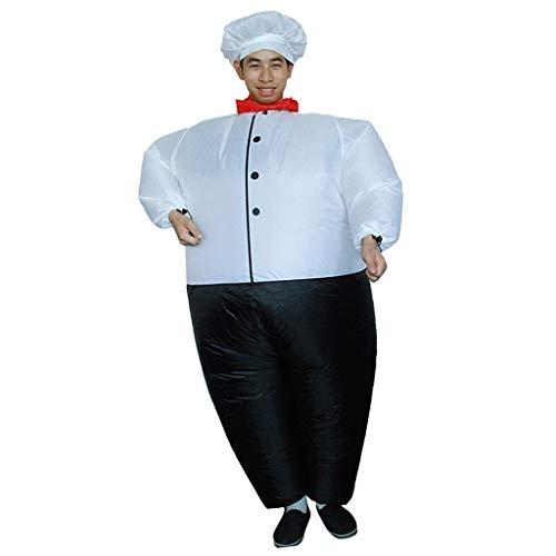 Anzug Kostüm Fett Luft - Baoblaze Chef Kostüm Aufblasbares Kostüm Luft Jumpsuit Fett Anzug Cosplay Zubehör