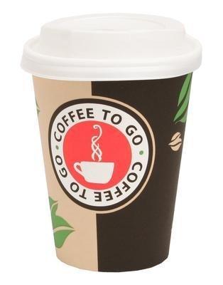 200 Pappbecher Coffee to go 0,3 L Becher mit Deckel von Gastro-Bedarf-Gutheil®