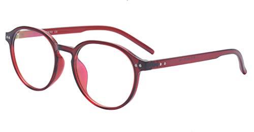 ALWAYSUV Klassische Brillenfassung Nerdbrille Transparent Brille mit  Fensterglas 2bf62e1ae7