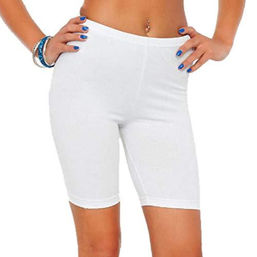 Damen Mode Solide hohe Elastizität Leggings Gym Active Hose Radhose Tägliche Freizeithose -