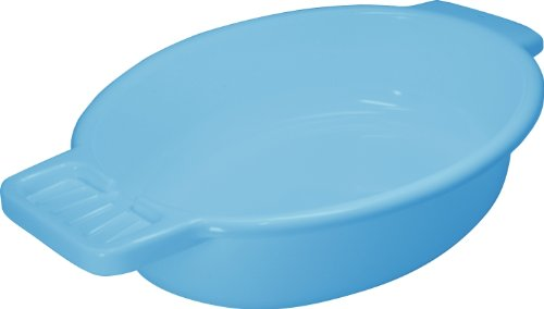 Waschschale aus Kunststoff mit Seifenablage, blau - Waschschüssel