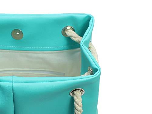 Handtasche Türkis - Blau - 4