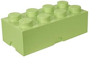 LEGO 4004 Ladrillo de Almacenamiento de 8 espigas, Caja de almacenaje apilable, 12 l, Legion/SPR. Yellowish Green, 50 x 25 x 18 cm
