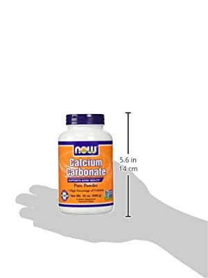 Calcium Carbonate, 100% Pure Powder, 12 oz (340 g) - Now Foods - UK Seller from Now Foods