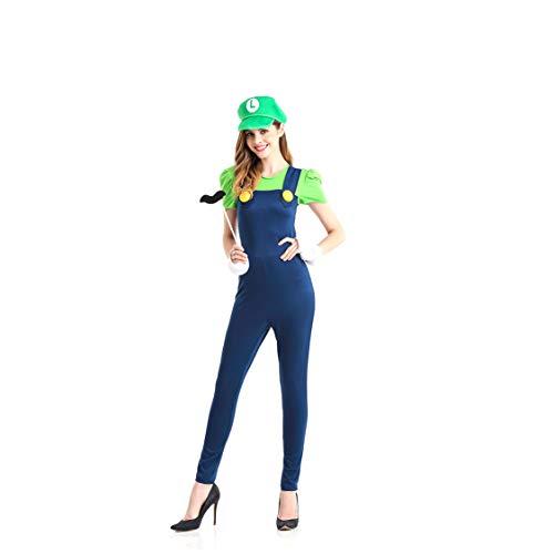 GAOJUAN Halloween Cosplay Kostüm Adult Cosplay Kostüm Masquerade Super Mario Kostüm Geeignet Für Karneval Thema Parteien Neujahr Festival,M (Halloween-kostüm Masquerade Joker)