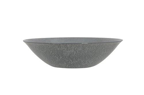 Luminarc 8012303.0 Loft Stony 1 Coupelle Verre Gris Anthracite 16,5 x 16,5 x 4,5 cm